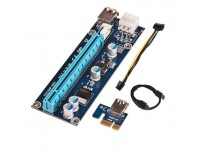 PCI-E 1x to 16x Powered Riser Card